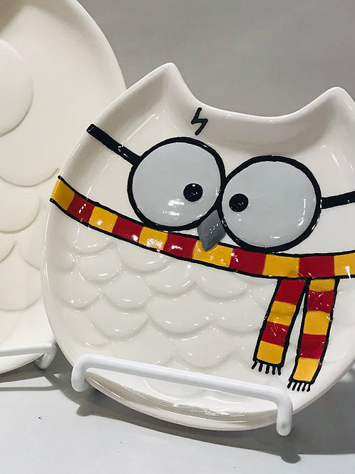 Small Hedwig Owl Dish