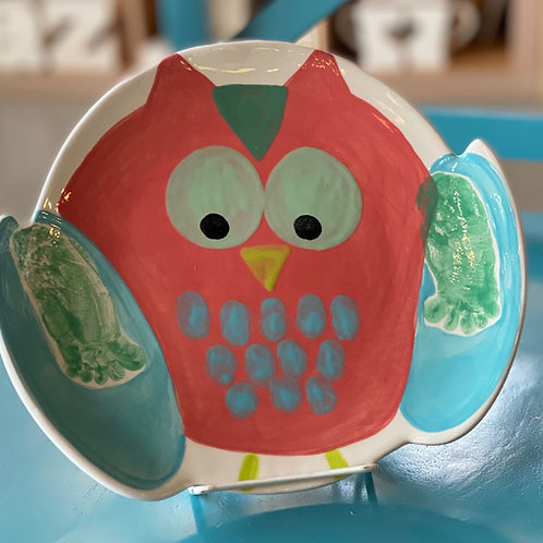Footprint Owl Plate -Kennewick