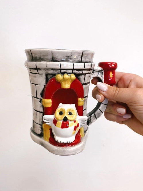Hogwarts Castle Stein with mini Hedwig! (NW Blvd only)