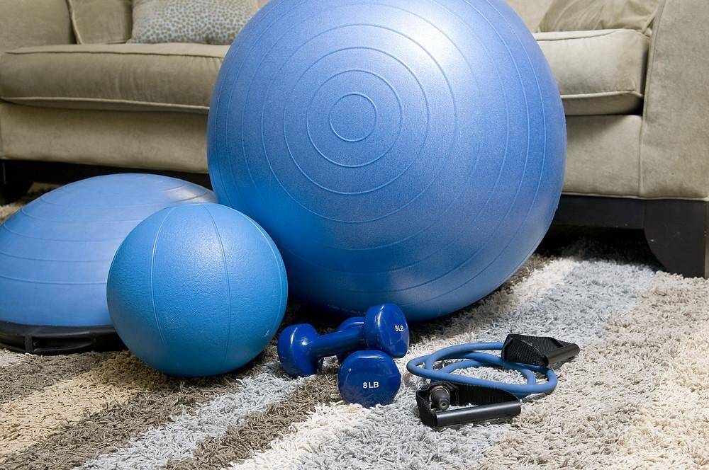 exercise, home, equipment, ball