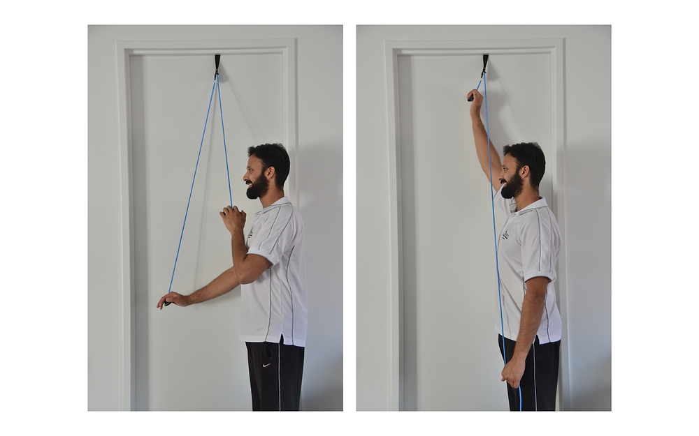 passive range of motion ROM using a shoulder pulley