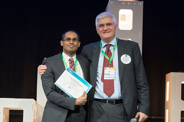 Sudarshan presented with IIS ECCO Prize