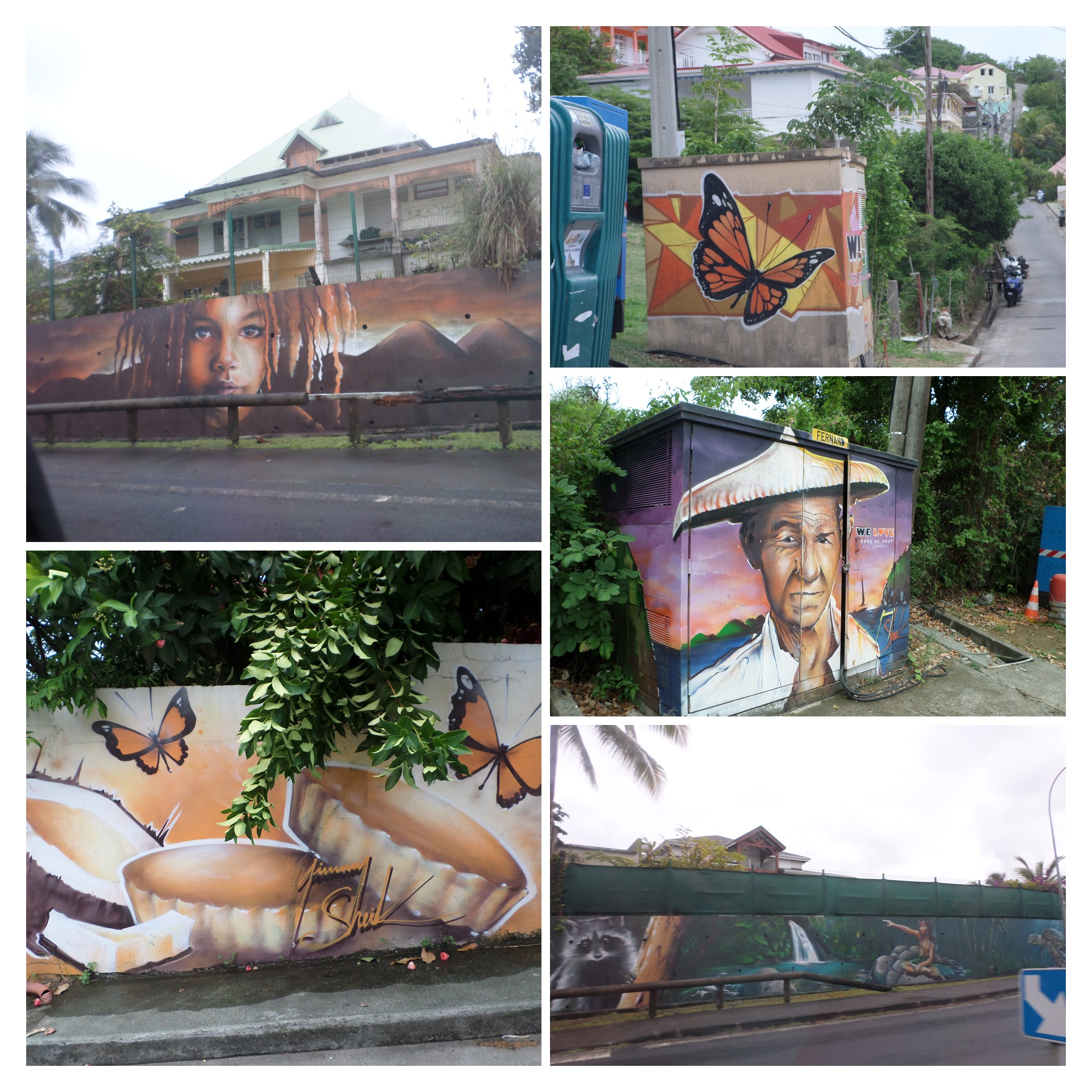 peintures murales aux Saintes