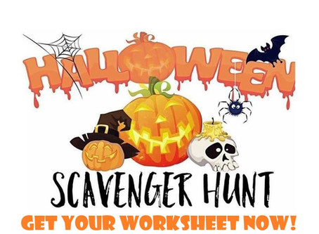 Here's Your Halloween Scavenger Hunt Worksheet!