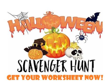 Here's Your Halloween Scavenger Hunt Worksheet!