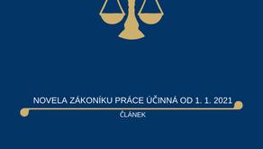 Změny zákoníku práce účinné od 1.1.2021