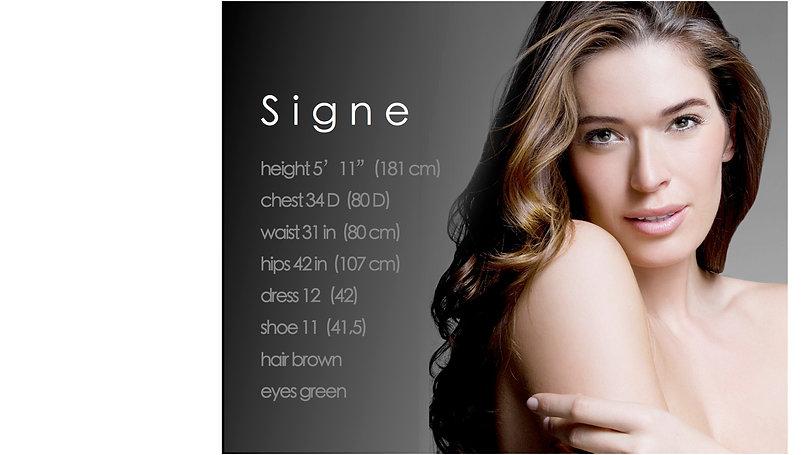 Signe Nordstrom, Signe Nordström, Signe Model, Signe Kappahl, Signe FORD, Signe JAG, Model Card,