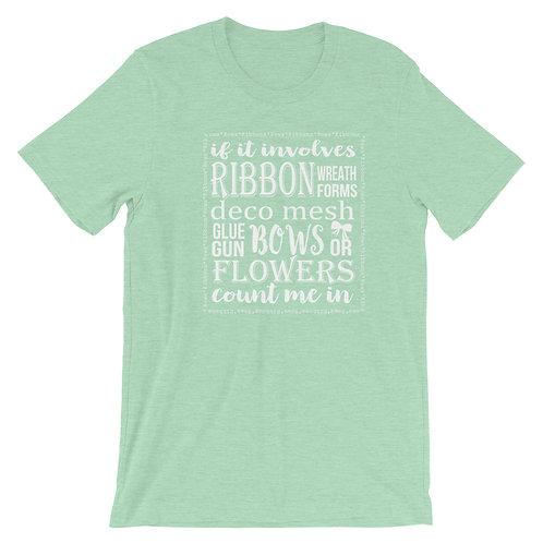 Wreath Making Shirt, T-Shirt, Wreath T-Shirt, Craft Shirt, Crafters Shirt, Plus
