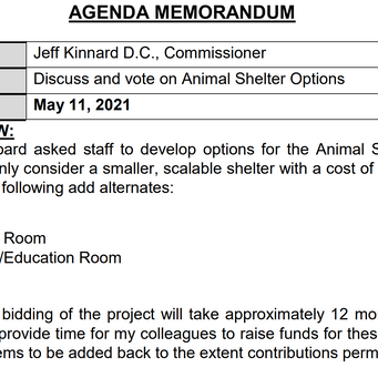 Animal Shelter Private Contributions Use Needs Clarification