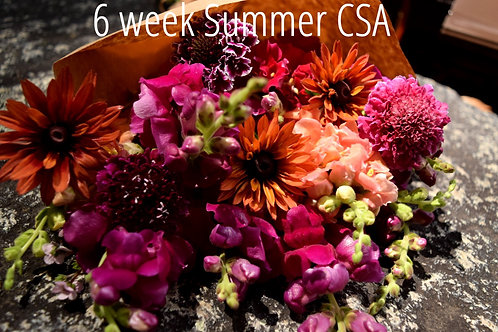 2021 6 Week Summer C.S.A. Bouquet Share