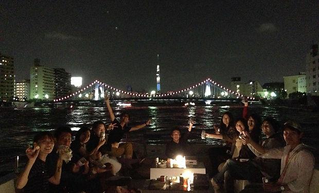 船上BBQ,隅田川,夜景,クルージング