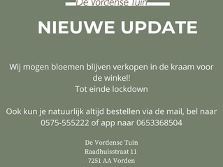 Informatie opening De Vordense Tuin!!!