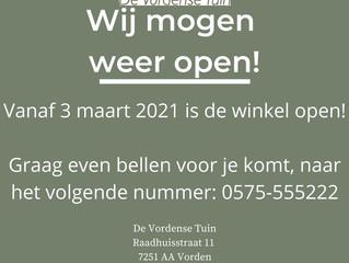 Informatie opening De Vordense Tuin!