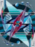 HOOPKA paintings : Playing card 2F (flying spheres)