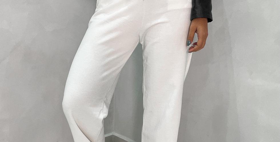 WIDE LEG MOLETOM JOY OFF WHITE