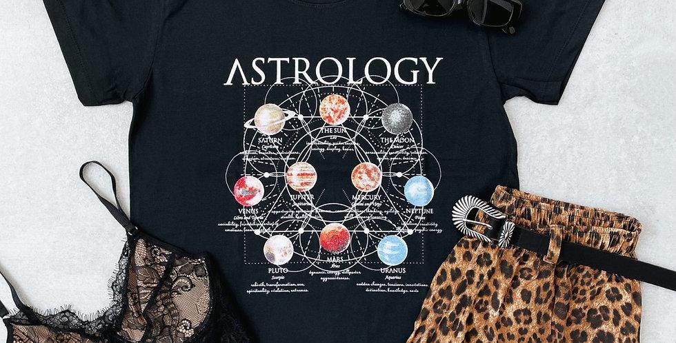 T-SHIRT ASTROLOGY PRETA