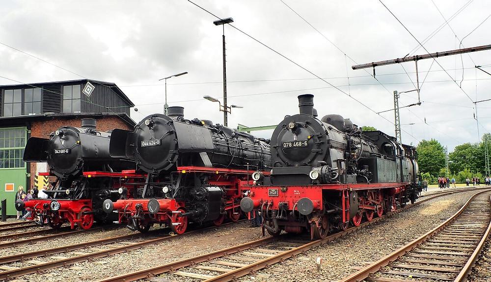 Dampflokparade in Altenbeken am 7. Juli 2019.