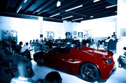 Red Ferrari at LLV heat game event