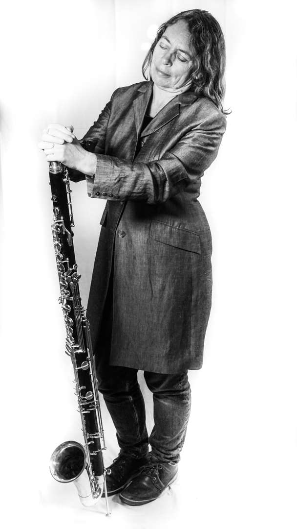 Karen Wimhurst Bass Clarinet Left (BW)
