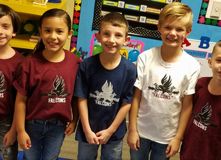 New Falcon Spirit shirts worn by all!