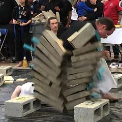 Brian Thomasson karate breaking cement