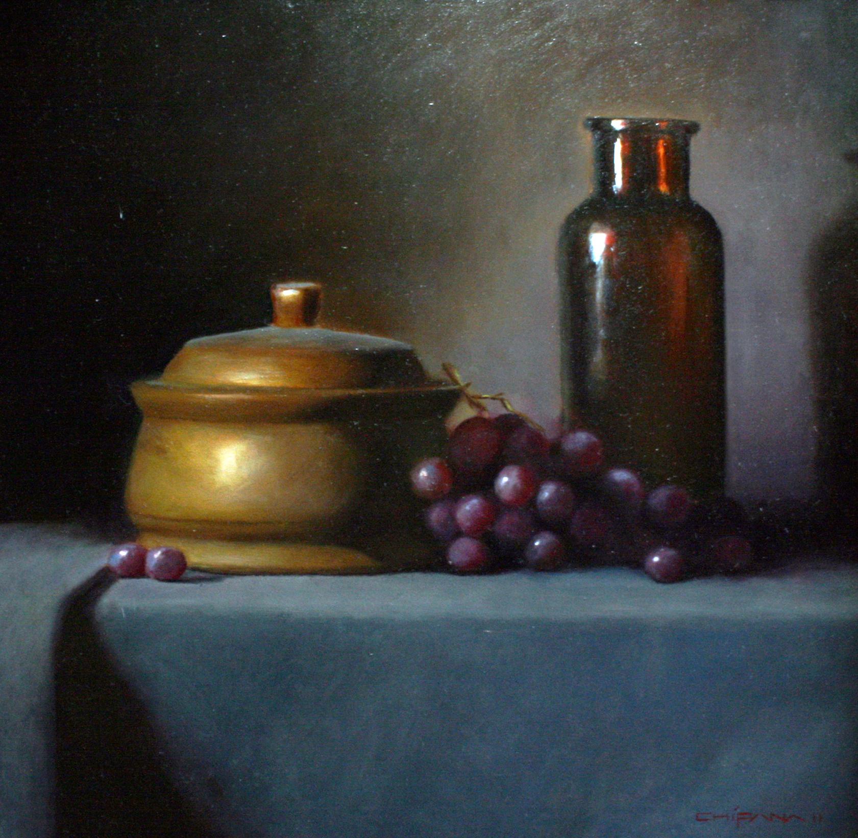"Grapes & Glass Still Life"""