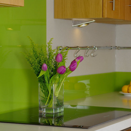 Lime Glass Splashback  600mm x 750mm x 6mm
