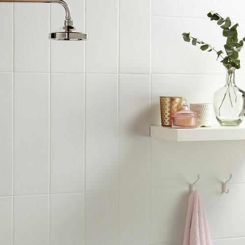White Weave Matt Wall & Floor  148mm x 498mm x 8mm