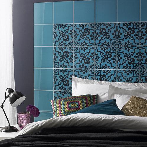 Turquoise Plain Gloss Wall  198mm x 198mm x 6.4mm