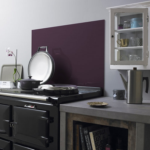 Aubergine Glass Splashback  600mm x 750mm x 6mm