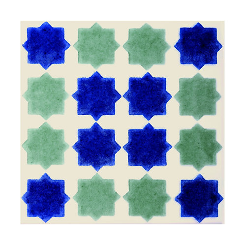 Blue/Green Mina Decor  152mm x 152mm x 8mm