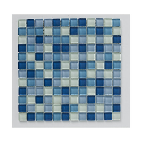 Blue Glass Mix Mosaic  300mm x 300mm x 8mm