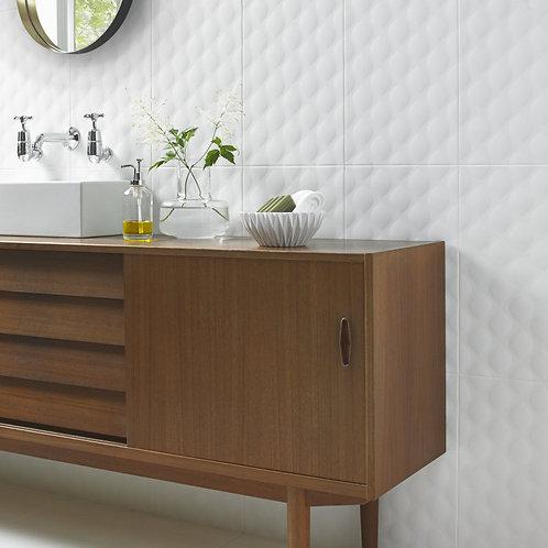 White Ceramic Wall  298mm x 498mm x 9.8mm