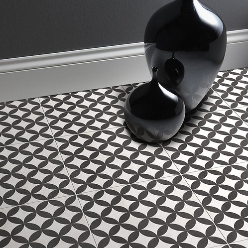 Black & White Matt Wall Porcelain Floor  331mm x 331mm x 7mm