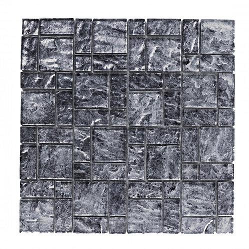 Silver Foil Glass Mosaic  300mm x 300mm x 8mm
