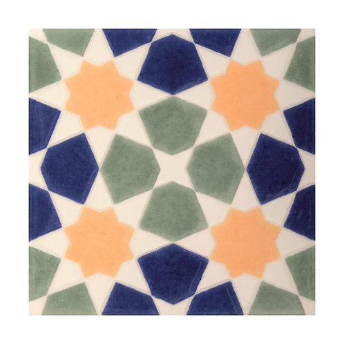 Omar Multicolour Decor  152mm x 152mm x 8mm
