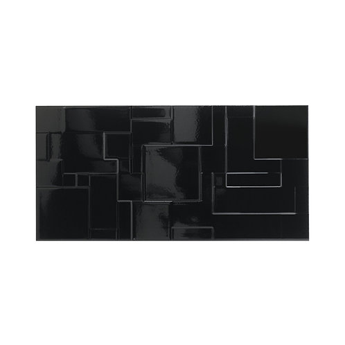 Black Gloss Wall  248mm x 498mm x 8.25mm