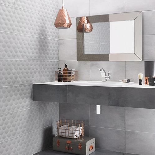 Big Light Grey Matt Wall & Floor  298mm x 498mm x 9.8mm