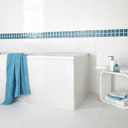 Crackle Blue Ceramic Mosaic  305mm x 305mm x 8mm