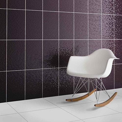 Plum Pressed Mosaic Wall  248mm x 398mm x 8mm