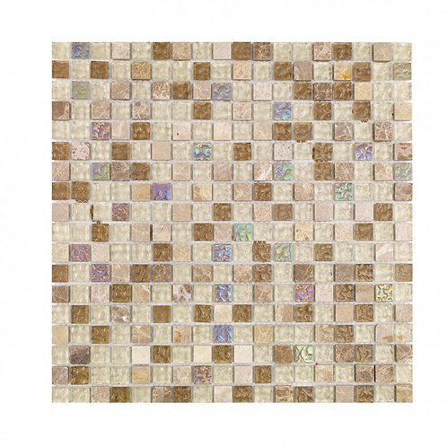 Natural Glass and Stone Mix Mosaic  300mm x 300mm x 8mm