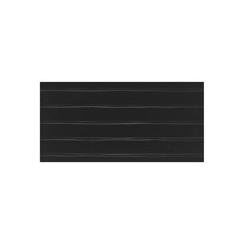 Flow Black Satin Wall  248mm x 498mm x 8.5mm