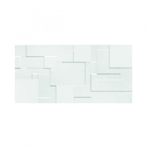 White Gloss Wall  248mm x 498mm x 8.25mm