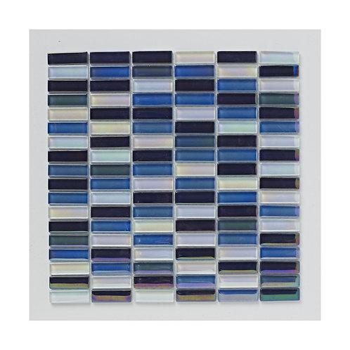 Reactive Blue Glass Mosaic  300mm x 300mm x 8mm