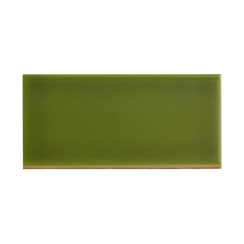 Olive Gloss Wall  152mm x 76mm x 8mm