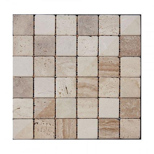 Beige Buxton Marble Mosaic  302mm x 302mm x 8mm