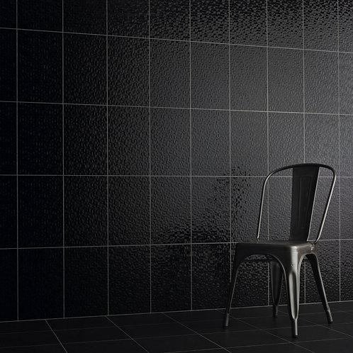 Black Pressed Mosaic Wall  248mm x 398mm x 8mm