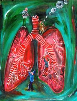 Lunge- bitte durchatmen