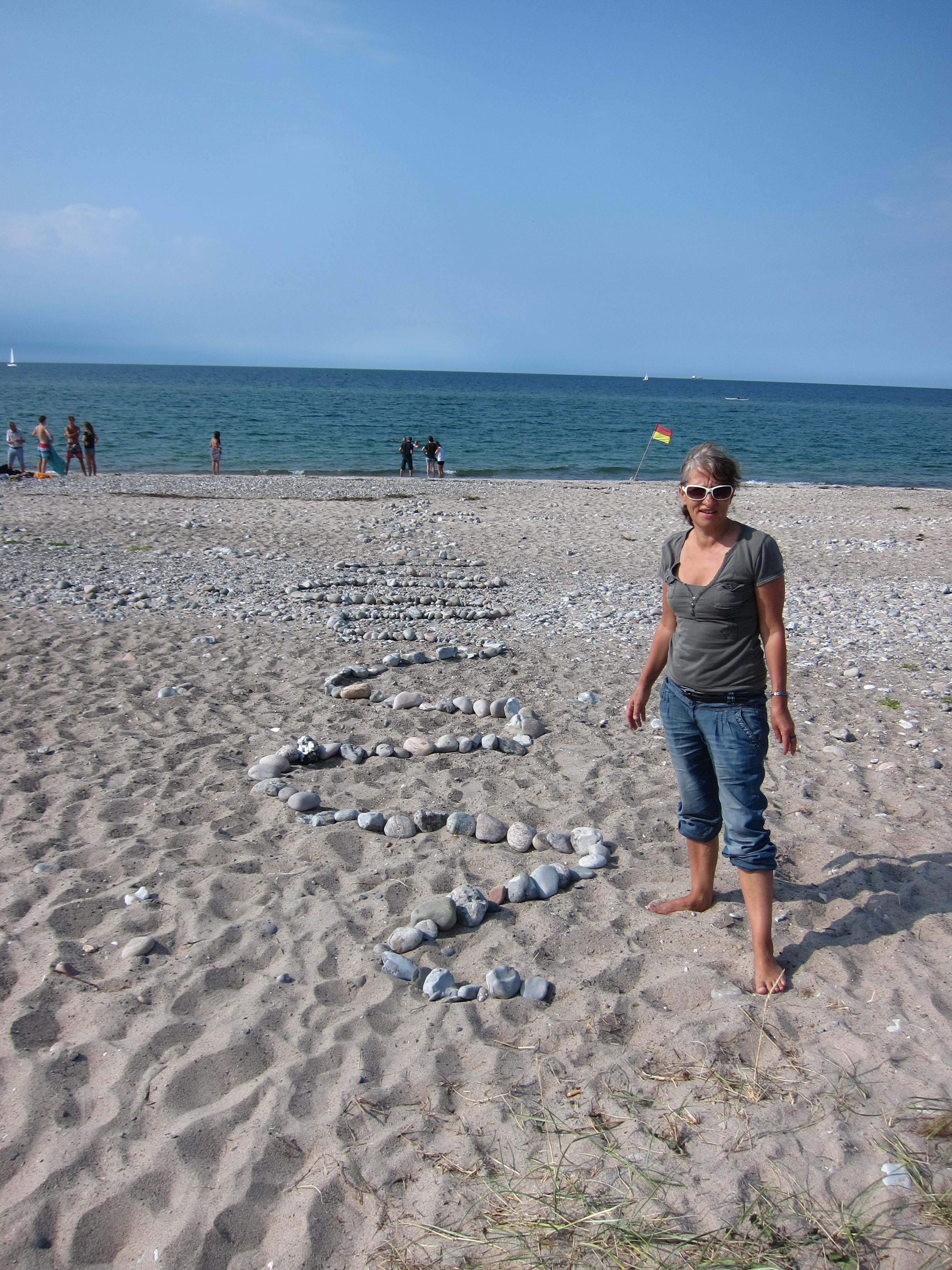 Land Art am Meer