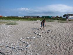 Land Art am Strand
